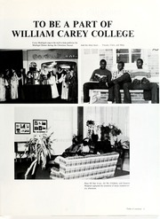 Page 7, 1984 Edition, William Carey College - Crusader / Pine Burr Yearbook (Hattiesburg, MS) online yearbook collection
