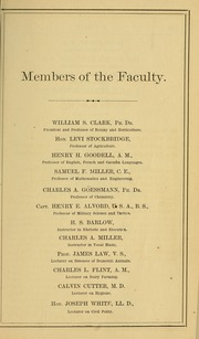 Page 15, 1869 Edition, University of Massachusetts Amherst - Index Yearbook (Amherst, MA) online yearbook collection