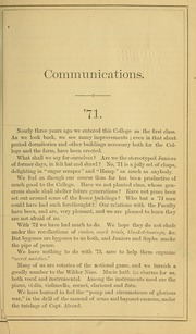 Page 9, 1869 Edition, University of Massachusetts Amherst - Index Yearbook (Amherst, MA) online yearbook collection