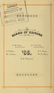 Page 18, 1886 Edition, University of Massachusetts Amherst - Index Yearbook (Amherst, MA) online yearbook collection