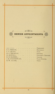 Page 30, 1886 Edition, University of Massachusetts Amherst - Index Yearbook (Amherst, MA) online yearbook collection