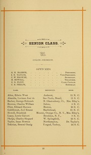 Page 33, 1886 Edition, University of Massachusetts Amherst - Index Yearbook (Amherst, MA) online yearbook collection