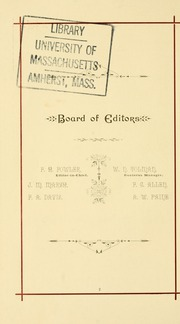 Page 12, 1887 Edition, University of Massachusetts Amherst - Index Yearbook (Amherst, MA) online yearbook collection