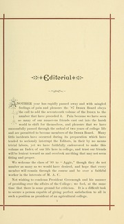 Page 15, 1887 Edition, University of Massachusetts Amherst - Index Yearbook (Amherst, MA) online yearbook collection