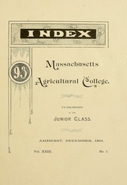 Page 17, 1893 Edition, University of Massachusetts Amherst - Index Yearbook (Amherst, MA) online yearbook collection