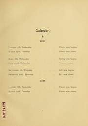 Page 11, 1899 Edition, University of Massachusetts Amherst - Index Yearbook (Amherst, MA) online yearbook collection