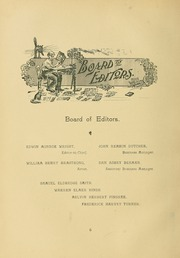 Page 12, 1899 Edition, University of Massachusetts Amherst - Index Yearbook (Amherst, MA) online yearbook collection