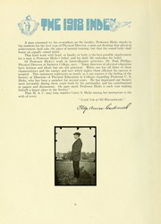 Page 16, 1918 Edition, University of Massachusetts Amherst - Index Yearbook (Amherst, MA) online yearbook collection