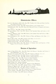 Page 15, 1919 Edition, University of Massachusetts Amherst - Index Yearbook (Amherst, MA) online yearbook collection