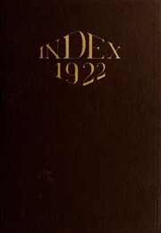 University of Massachusetts Amherst - Index Yearbook (Amherst, MA) online yearbook collection, 1922 Edition, Page 1