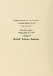 Page 14, 1929 Edition, University of Massachusetts Amherst - Index Yearbook (Amherst, MA) online yearbook collection
