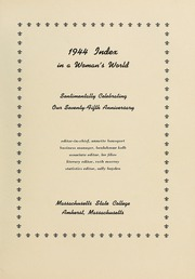 Page 7, 1944 Edition, University of Massachusetts Amherst - Index Yearbook (Amherst, MA) online yearbook collection