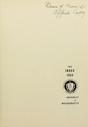 Page 5, 1954 Edition, University of Massachusetts Amherst - Index Yearbook (Amherst, MA) online yearbook collection