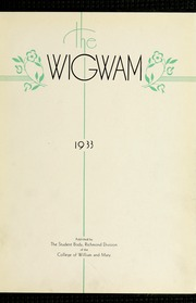 Page 9, 1933 Edition, Virginia Commonwealth University - Cobblestone Wigwam Yearbook (Richmond, VA) online yearbook collection