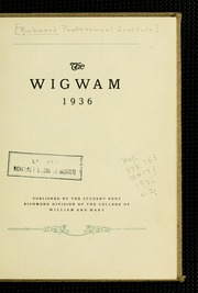 Page 7, 1936 Edition, Virginia Commonwealth University - Cobblestone Wigwam Yearbook (Richmond, VA) online yearbook collection