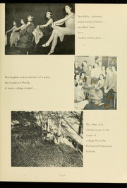 Page 15, 1957 Edition, Virginia Commonwealth University - Cobblestone Wigwam Yearbook (Richmond, VA) online yearbook collection