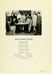 Page 11, 1939 Edition, Panzer College - Olympia Yearbook (East Orange, NJ) online yearbook collection