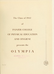 Page 5, 1942 Edition, Panzer College - Olympia Yearbook (East Orange, NJ) online yearbook collection