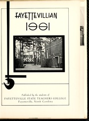 Page 5, 1961 Edition, Fayetteville State University - Fayettevillian Bronco Yearbook (Fayetteville, NC) online yearbook collection