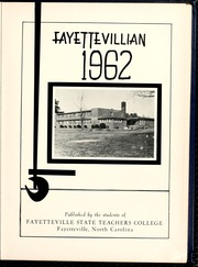Page 5, 1962 Edition, Fayetteville State University - Fayettevillian Bronco Yearbook (Fayetteville, NC) online yearbook collection