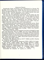 Page 9, 1977 Edition, Fayetteville State University - Fayettevillian Bronco Yearbook (Fayetteville, NC) online yearbook collection