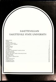 Page 5, 1986 Edition, Fayetteville State University - Fayettevillian Bronco Yearbook (Fayetteville, NC) online yearbook collection