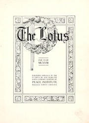Page 7, 1918 Edition, Peace College - Lotus Yearbook (Raleigh, NC) online yearbook collection