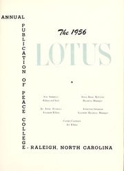 Page 5, 1956 Edition, Peace College - Lotus Yearbook (Raleigh, NC) online yearbook collection
