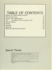 Page 7, 1985 Edition, Tulane University School of Medicine - T Wave Yearbook (New Orleans, LA) online yearbook collection