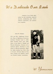 Page 10, 1941 Edition, Oglethorpe University - Yamacraw Yearbook (Atlanta, GA) online yearbook collection
