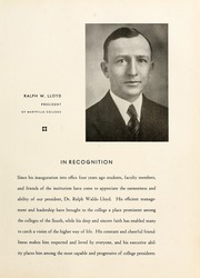 Page 17, 1935 Edition, Maryville College - Chilhowean Yearbook (Maryville, TN) online yearbook collection
