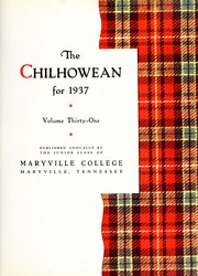 Page 7, 1937 Edition, Maryville College - Chilhowean Yearbook (Maryville, TN) online yearbook collection
