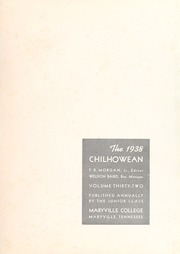 Page 5, 1938 Edition, Maryville College - Chilhowean Yearbook (Maryville, TN) online yearbook collection