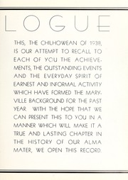 Page 7, 1938 Edition, Maryville College - Chilhowean Yearbook (Maryville, TN) online yearbook collection