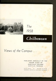 Page 5, 1958 Edition, Maryville College - Chilhowean Yearbook (Maryville, TN) online yearbook collection