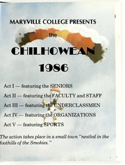 Page 5, 1986 Edition, Maryville College - Chilhowean Yearbook (Maryville, TN) online yearbook collection