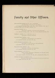 Page 14, 1896 Edition, Bucknell University - L Agenda Yearbook (Lewisburg, PA) online yearbook collection