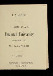 Page 7, 1896 Edition, Bucknell University - L Agenda Yearbook (Lewisburg, PA) online yearbook collection
