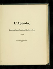 Page 9, 1902 Edition, Bucknell University - L Agenda Yearbook (Lewisburg, PA) online yearbook collection
