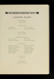 Page 13, 1920 Edition, Bucknell University - L Agenda Yearbook (Lewisburg, PA) online yearbook collection