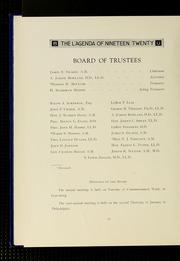Page 16, 1920 Edition, Bucknell University - L Agenda Yearbook (Lewisburg, PA) online yearbook collection