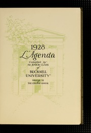 Page 7, 1928 Edition, Bucknell University - L Agenda Yearbook (Lewisburg, PA) online yearbook collection