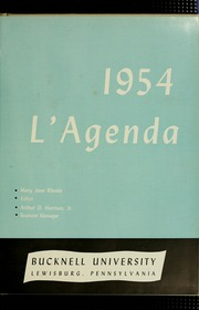 Page 5, 1954 Edition, Bucknell University - L Agenda Yearbook (Lewisburg, PA) online yearbook collection