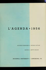 Page 5, 1956 Edition, Bucknell University - L Agenda Yearbook (Lewisburg, PA) online yearbook collection