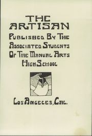 Page 7, 1913 Edition, Manual Arts High School - Artisan Yearbook (Los Angeles, CA) online yearbook collection