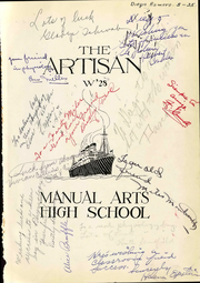 Page 7, 1928 Edition, Manual Arts High School - Artisan Yearbook (Los Angeles, CA) online yearbook collection