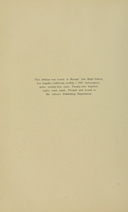 Page 10, 1939 Edition, Manual Arts High School - Artisan Yearbook (Los Angeles, CA) online yearbook collection