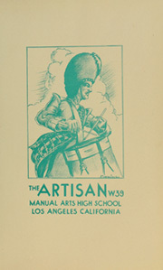Page 11, 1939 Edition, Manual Arts High School - Artisan Yearbook (Los Angeles, CA) online yearbook collection