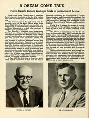 Page 10, 1957 Edition, Palm Beach Community College - Galleon Yearbook (Lake Worth, FL) online yearbook collection