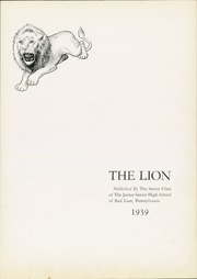 Page 7, 1939 Edition, Red Lion Area High School - Lion Yearbook (Red Lion, PA) online yearbook collection